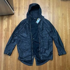 NWT Large+XL Black Under Armour Elite Parka Jacket